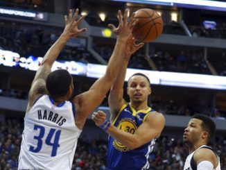 curry warriors beat mavs
